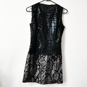 Custo Barcelona Black Animal/Snake Print Dress 1